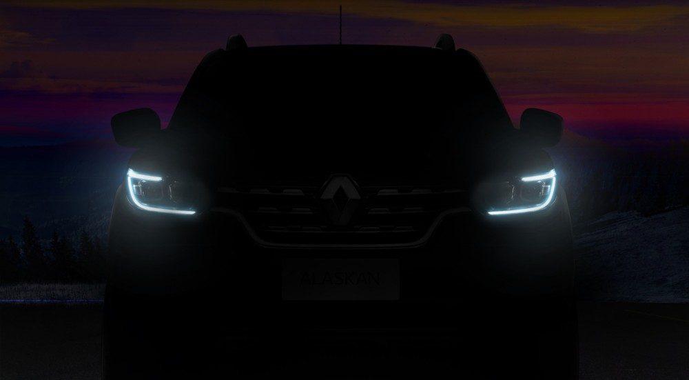 Пикап Renault Alaskan 2016 показался на предпремъерном тизере