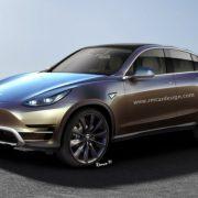 Кроссовер Tesla Model Y: первый рендер и характеристики