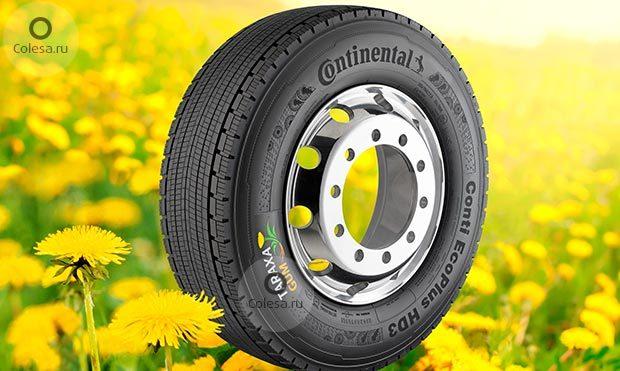 Continental представил грузовые шины из одуванчиков