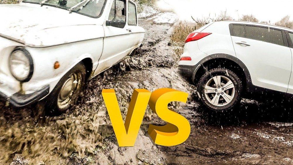 Запорожец VS внедорожники: УАЗ, Toyota HiLux, Нива и KIA Sportage