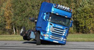 Scania моделирует опрокидывание грузовиков