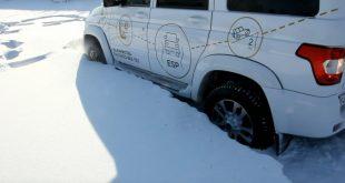УАЗ Патриот 2017: тест-драйв на снежном бездорожье