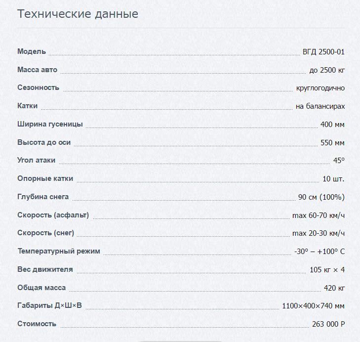 УАЗ Патриот на гусеницах ВГД-2500