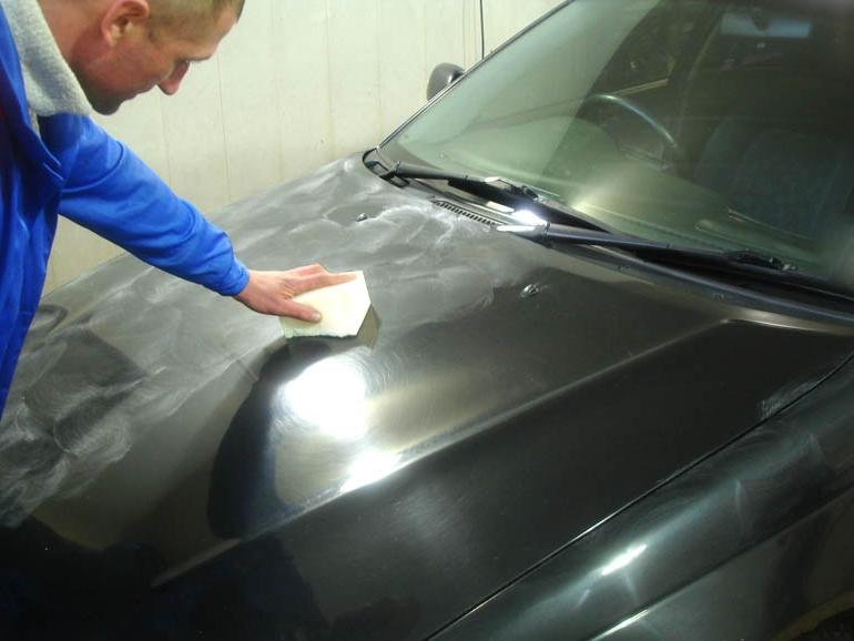 Полировка лкп автомобиля своими руками