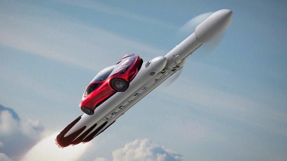 Маск запустил электромобиль в космос на Марс