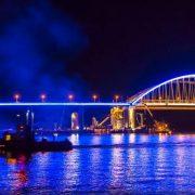 Крымский мост: подсветка. Видео дня