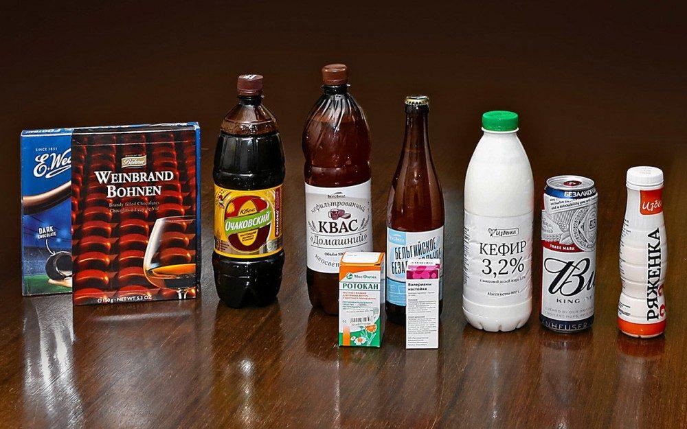 Какие продукты повышают промилле на алкотестере?