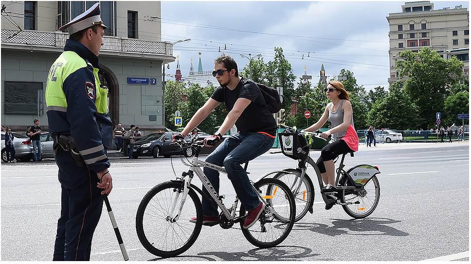Наказание для владельцев автомобилей, нарушающих ПДД за рулем велосипеда